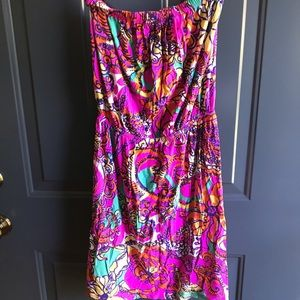 Lilly Pulitzer strapless day dress